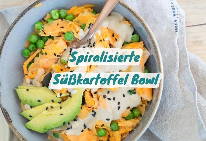Spiralisierte Süßkartoffel