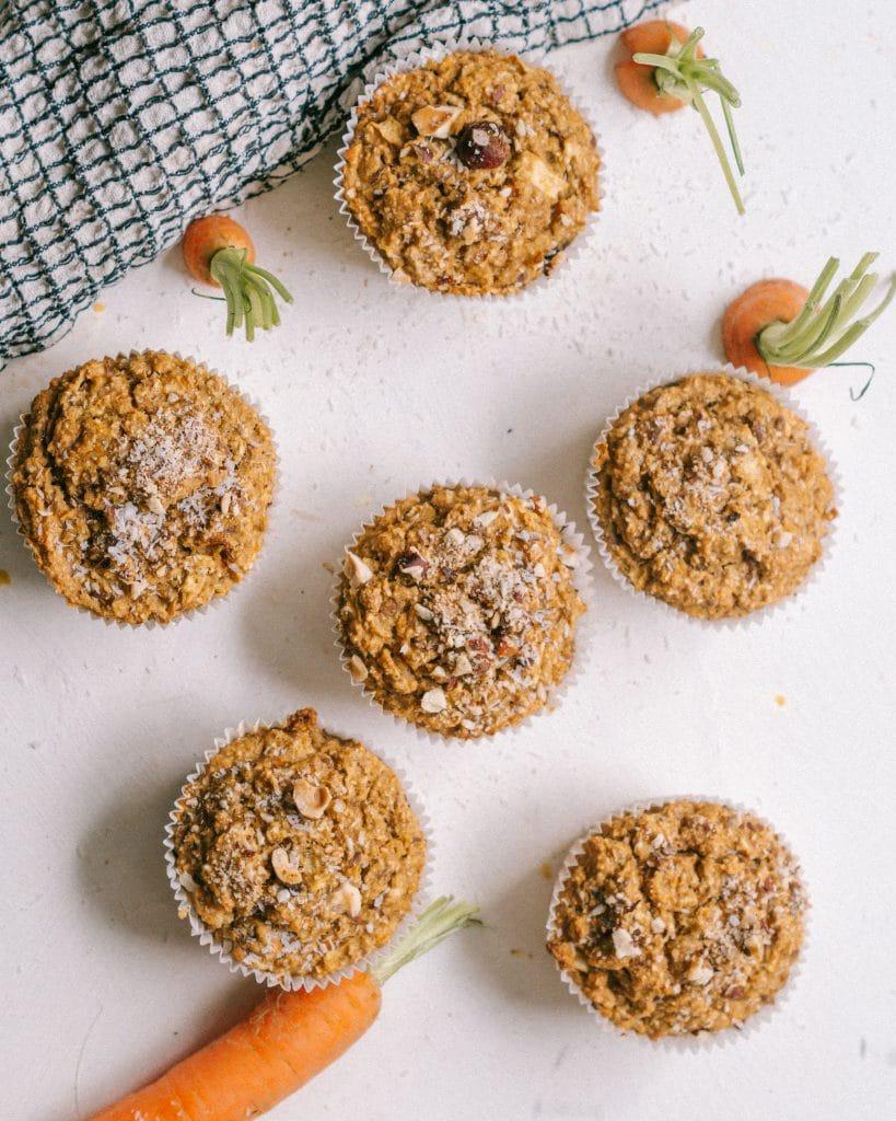 Muffin Carrot Cake Glutenfrei Zuckerfrei Vegan