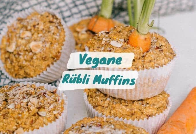 Vegane Möhrenkuchen Muffins