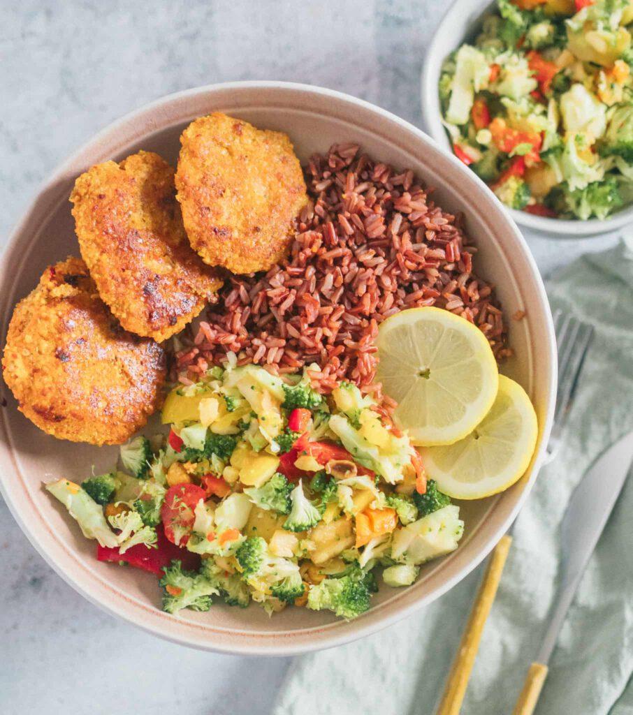 Brokkoli Salat Vegan Gesund