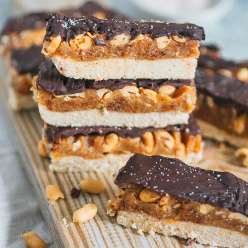 Vegane Snickers gesund zuckerfrei